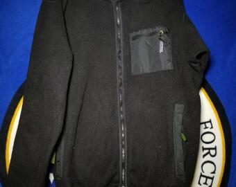 Patagonia All Black Fleece Zip Up Jacket XL