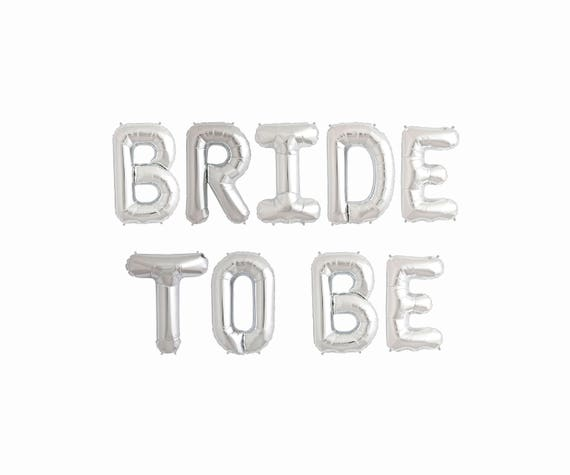 Bride To Be Balloons Letter Banner