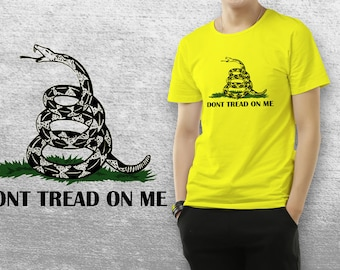Gadsden Flag or Don't Tread On Me - Yellow T-Shirt