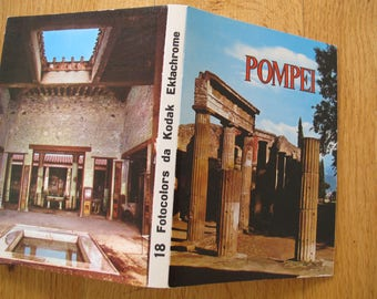 Pompei Folding postcard (18 postcards) / Pompei photographs / Kodak Ektachrome photos / Interdipress