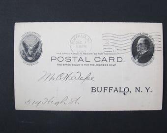 1902 Coal Postal Card / Scranton Coal Company Coal charge card