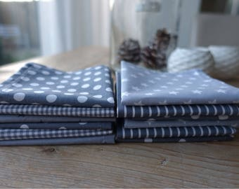 Handkerchiefs-handkerchiefs-Zero waste-washable-grey