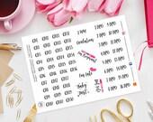Trying To Concieve Planner Stickers for Erin Condren Life Planner, Kikki K, Happy Planner, Filofax, TTC, Baby Making, Ovulation