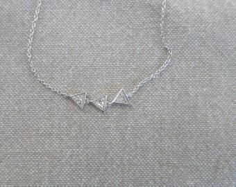 "Silver bracelet ""Triangles"""