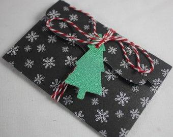 Christmas Gift Card Money Holders Pack of 4 Different Designs Includes Tags And Twine Handmade Great for Cash Or Small Flat Gifts Plaid 2