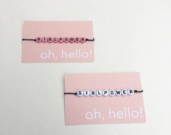 Girl Power Bracelet // Girl Power  Armband
