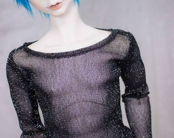 Black Shimmer Shirt | SD | BJD Clothing