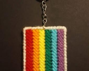 Gay Pride Flag Keychain