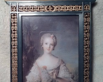 Ornate Metal Frame with Victorian Print
