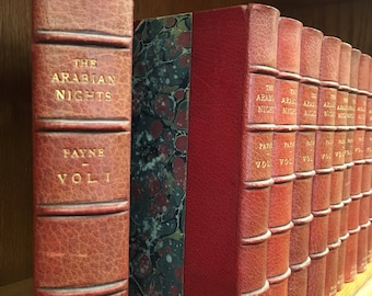 Arabian Nights! 1001 Thousand and One Nights. Fantastic 1882 fine leather binding limited edition, first full English translation 13 volumes
