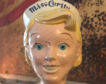 Original 1950's Miss Curity Advertising Counter Display Doll