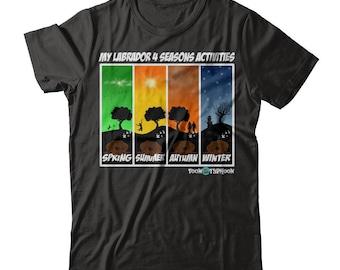 Funny Labrador Apparel | Labrador 4 seasons activities | Choco Lab | Funny Lab training gear