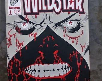 wildstar comic issue 1//image comics//vintage image//wildstar//1993//very fine