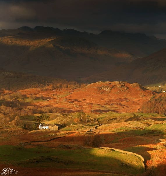Bowfell & Crinkle Crags above Low Arnside [Photographic Print]