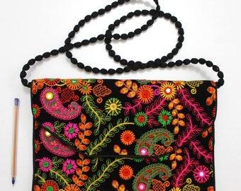 Handmade Ethnic Designer Tribal Banjara Patchwork Embroidered Hippy Fashionable Stylish Trendy Hippie Gypsy Boho Bohemian Clutch Bag F299