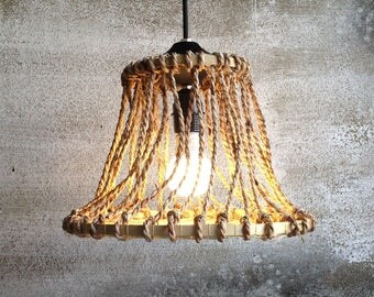 Rope Pendant Lights Wood Chandelier Hanging Lightsdining Room Chandeliersrustic