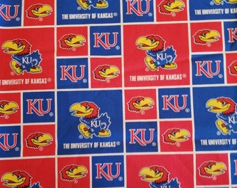University of Kansas / KU / Jayhawks Cotton Fabric