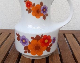 Mitterteich Bavaria vintage floral porcelain pitcher