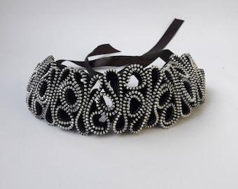 Zipper Bracelet Black metal bracelet Creative jewelry Urban jewelry Unique bracelet  Unusual jewelry Industrial bracelet  Metal bracelet