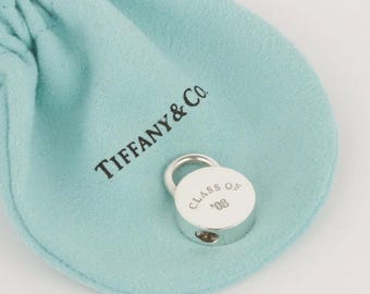 Unique Tiffany & Co. Sterling Silver Round Padlock - Opens and Closes