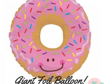 Pink Sprinkles Donut Giant Foil Balloon Party Decoration