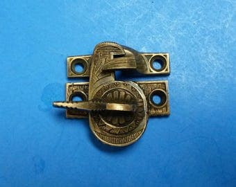 """Antique Window Sash Lock, Solid Cast Bronze Ives """"Eagle Claw"""" Design, sold by Each Set (Lock and Keeper), ca. 1884"""