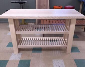 Ash Slab Kitchen Table, Ash Kitchen Island, Ash Dining Table, Kitchen Table, Slab Table, Pennsylvania Made