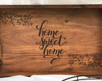 "Custom ""Home Sweet Home"" Tray"