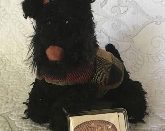 Vintage Ganz Cottage Haggis Black Scottish Terrior Plush - Original Tags