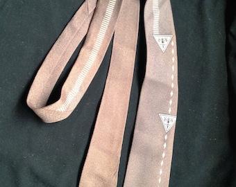 1950s /60s Mens Neck Tie / Gearald Sampter Clothing - USA - SUPERBA Cravats.