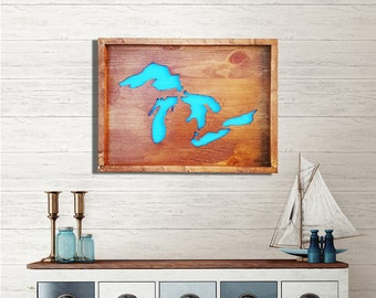 Michigan Wall Art 'The Great Lakes State of Mind' Home Decor