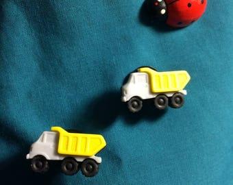 Cute Transportation DUMP Trucks Truck Constuction Clog Shoe Charms