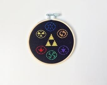 Link from Legend of Zelda Cross stitch