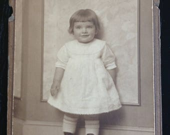 Antique Victorian Cabinet Portrait of a Young Girl c.1890