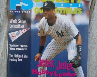 1997 Derek Jeter - Vintage Beckett - New York Yankees - Sports Beckett - NY Yankees, Derek Jeter gift, Gifts for him, Vintage baseball, 1997