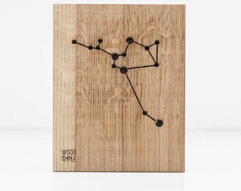 Zodiac - Sagittarius Constellation Picture -Wooden handmade - Woodworking - Wood - Sign - Wall Art - Personalized - Gift - 21 cm x 29 cm