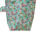 Floral Sock Knitting Project Bag | Knitting Bag | Crochet Bag | Storage Bag