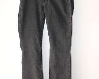 "LUCKY BRAND Lolita bootcut black dark gray wash jeans size 2 26"" waist"