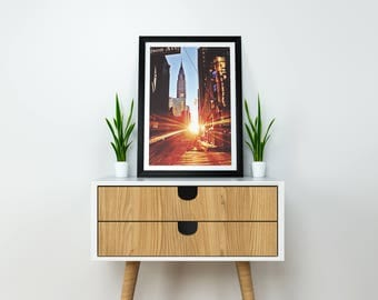 Early Morning Manhattan | digital download | Manhattan | NYC | Chrysler Building | New York City | Sunrise | Wall Art | Home Decor | Canvas