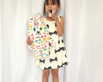 Cotton Bow Print Dress