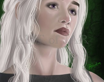 "Printable Digital Art Original ""Mother of Dragons"" Wall Art, Home Decor! INSTANT DOWNLOAD!"
