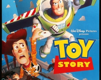 """Toy Story (1995) Original French Movie Poster - 16"""" x 21"""""""