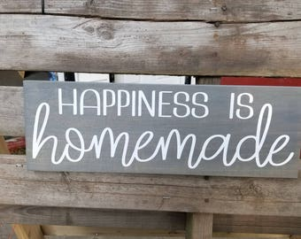 Happiness Is Homemade Sign-Farmhouse Decor-Kitchen Decor