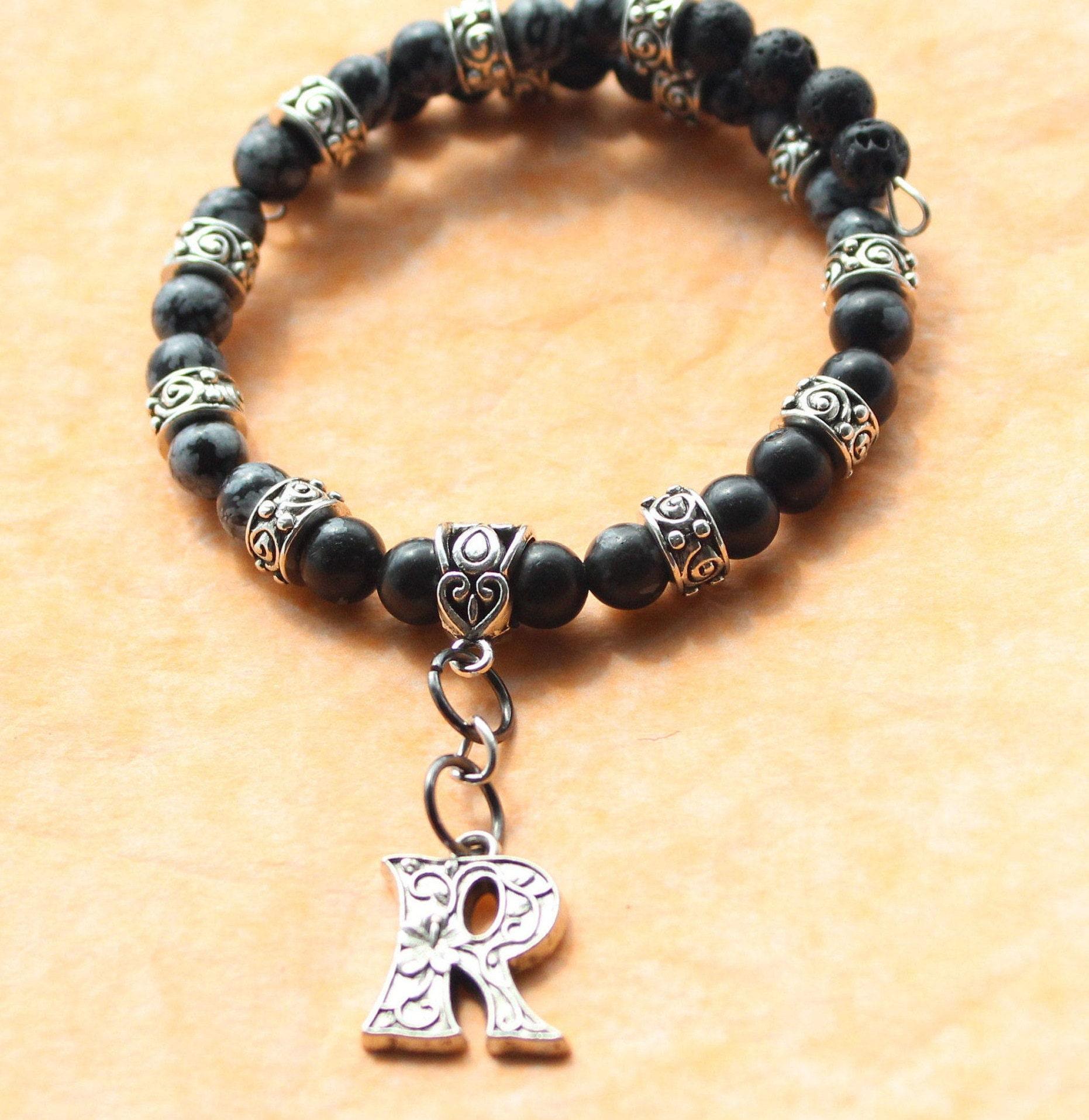 Personalized Lava Bead Bracelet Custom Friendship Bracelets