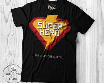 Superhero T-shirt, Men's T-shirt , Funny shirts, Ethical Clothing , Vegan T-shirt, Graphic t-shirt , Organic Cotton , Eco friendly ,