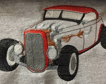 Embroidered Classic Hot Rod Shirt