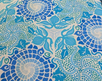 Riverwoods Collection-Stack a Whack-Blue Cotton Fabric from Troy