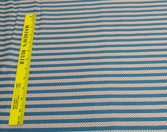 Americana-Light Blue Stripes and Stars Cotton Fabric Designed by Carrie Quinn for Penny Rose Fabrics
