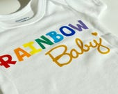Rainbow Baby/Custom Onesie/Baby Girl, Boy, Neutral/Bodysuit