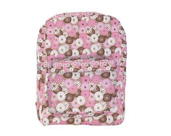 Donut Backpack Doughnut print Backpack *MTO, Month*